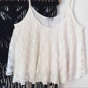 🌼Express White Lace Tank